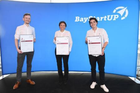 Sieger im Finale des Münchener Businessplan Wettbewerb 2021 (c) BayStartUP / Andreas Gebert