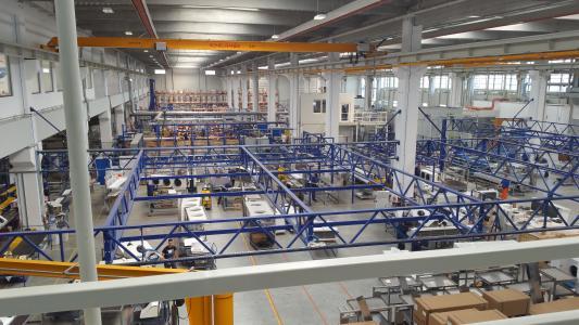 Der Fertigungsbereich bei der Güntner GmbH & Co. KG am Standort Sibiu