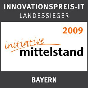 "Innovationspreis Logo ""Landessieger Bayern 2009"""