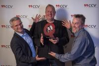 Jens Bestmann, Initiator der Headset-Helden-Kampagne, mit dem CCV Quality Award ausgezeichnet (Bildrechte: CCV e.V.)