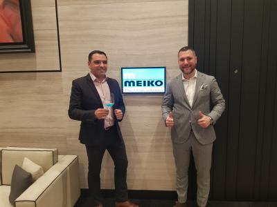 Picture shows Austrias best Sommelier Suwi Zlatic (left), here with Dejan Jovanovic (Employee MEIKO Belgrad) / Picture: Meiko