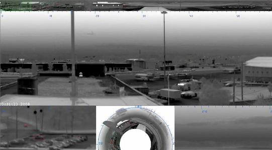 VIGISCAN is a high sensitivity camera for real time infrared panoramic surveillance