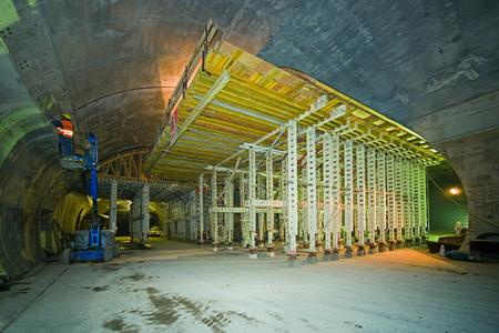 NOEtec formwork carriages where the emergency bay and ventilation gallery meet