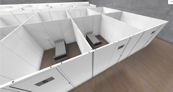 Mobile Krankenstation - Einzelne Kabinen