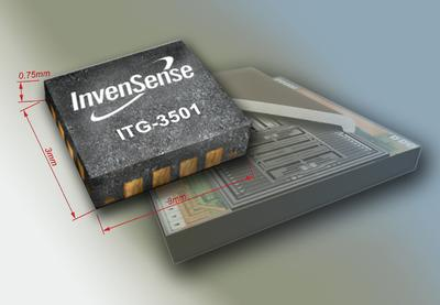 InvenSense® Unveils World's Lowest Profile 3-Axis Gyroscope for MotionTracking Applications