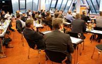 Mehr als 60 Logistikfachleute aus verschiedensten Branchen kamen zum Städtler-Logistik-Treff in das Hotel Pyramide in Fürth
