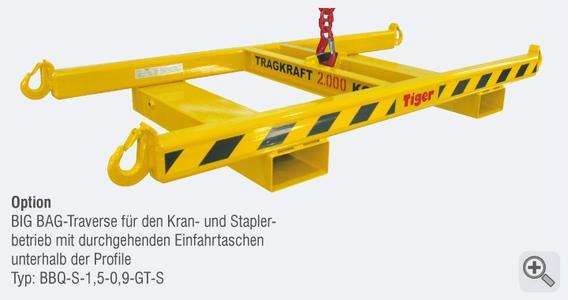 TIGER Big-Bag-Traverse Serie BBQ für Stapler und Kranbetrieb