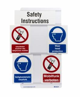 Neue Safety Signs Slider ermöglichen die flexible Informationsvermittlung in Gebäuden