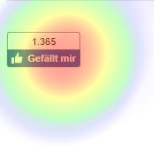 Eyetracking Heatmap auf Likes