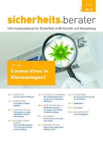 Sicherheits-Berater Ausgabe 8 vom 15.04.2020 (Titelseite)