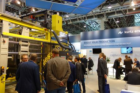 Great Interest in Kurtz innovations for the particle foam processing industry at the K 2013