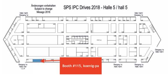 Meet TenAsys during SPS IPC Drives 2018 in hall 5, booth #115 (koenig-pa)