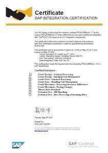 Zertifikat der SAP SE