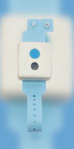 SYRIS 2.4 GHz wristband tag with emergency call button