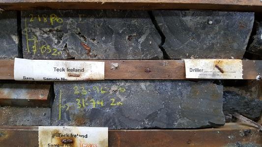 Bohrkerne von Stonepark; Foto: Group Eleven Resources