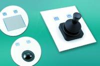 Die TKH-Serie von InduKey mit Touchpad, 38-mm-Trackball und ganz neu mit verkürztem Joystick
