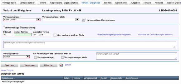 Leichte Vertragsverwaltung durch automatisierte turnusmäßige Überwachung / © United Planet GmbH