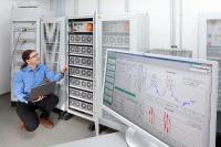 Stationärer elektrischer Energiespeicher zur Lastspitzenreduktion am Fraunhofer IISB in Erlangen.