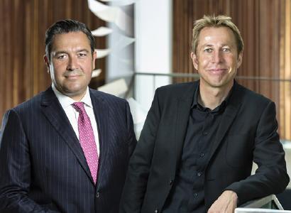 Thomas Radestock (l.) und Matthias Lemenkühler, Geschäftsführer der WMD Group. Abb. WMD