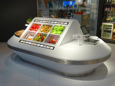 Sales Counter with embedded SHELFVISION - Kesseboehmer/Gundlach
