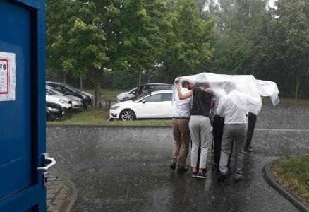 Selbst ein Wolkenbruch in Chemnitz konnte die Euphorie der Teilnehmer des CCeV-Thementags nicht bremsen  / Foto: © CC Ost/CCeV