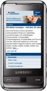 Adresse des Mobilportals:  mobil.union-investment.de