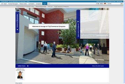 Networking Lounge einer virtuellen Messe