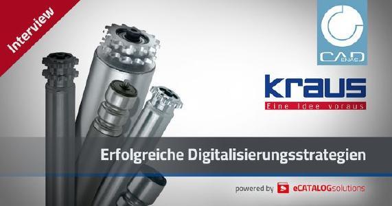 Digitalisierung als Wettbewerbsvorteil: KRAUS Austria startet Produktkonfigurator für Tragrollen powered by CADENAS