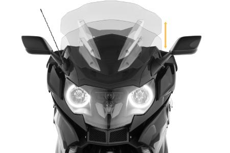 Wunderlich windscreen »CRUISE« - Fits to the standard height adjustment on K 1600 B