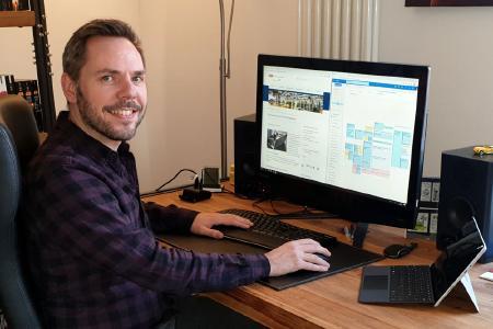 Trotz Corona-Krise: Auch im Home-Office geht die Arbeit für Dr. Stonis und seine Mitarbeiter weiter (Quelle: IPH)