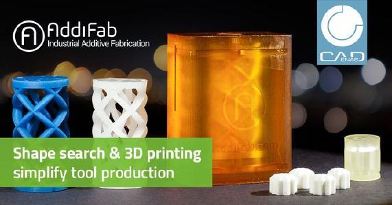 Production accélérée de prototypes d'outils grâce à la recherche de forme CADENAS et à la technologie d'impression 3D AddiFab
