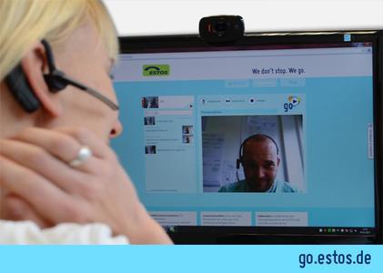 "ESTOS mit WebRTC-basiertem VideoChat ""go.estos.de"""