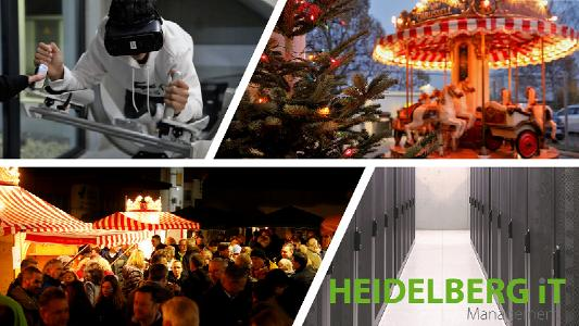 """Großer Andrang beim """"Heidelberg iT-Weihnachtsmarkt 2019"""" am Firmensitz des Heidelberger IT-Dienstleisters mit den Bereichen Internet-Service-Provider, Rechenzentrumsbetrieb und IT-Systemhaus / Fotos: Andreas Gieser"""