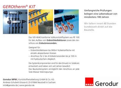 GEROtherm® KIT Outside Erdreichkollektorsystem