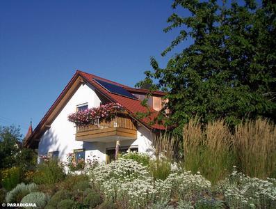 Einfamilienhaus mit AquaSystem auf dem Dach
