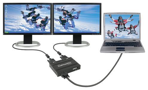 Matrox DualHead2Go Digital Edition - setup laptop open