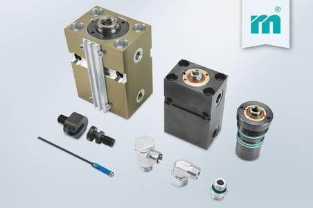 Available as of Fakuma 2014: hydraulic cylinders and accessories, Photo (Meusburger)