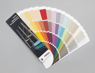Farbtonfächer Metallische Wandgestaltungen