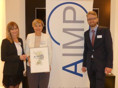 Heidi Hofer mit Angela Heuer und Erdwig Holste von den Management Angels