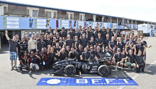 Together for one goal: Schanzer Racing Electric and BFFT in the Formula Student.