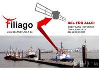 FILIAGO - Internet via Satellit auch im Hafen