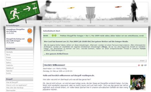 Discgolf-Reutlingen Social Community Website