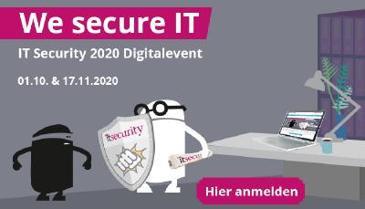 We secure IT - Digitalevent am 01.10. und 17.11.2020