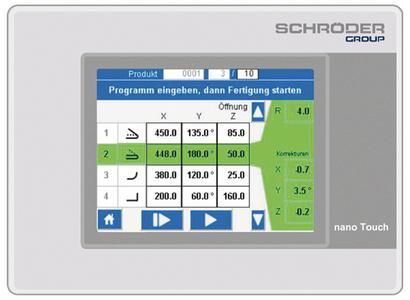 Schröder zeigt als Highlight der diesjährigen Kaufmann-Hausmesse die alphanumerische Steuerung nano Touch (hier: Panel von nano Touch)