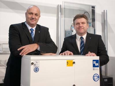 Die Geschäftsführer Erwin Telöken und Jürgen Kemper blicken auf ein erfolgreiches Geschäftsjahr 2017 und setzen den Innovationskurs auch in 2018 konsequent fort