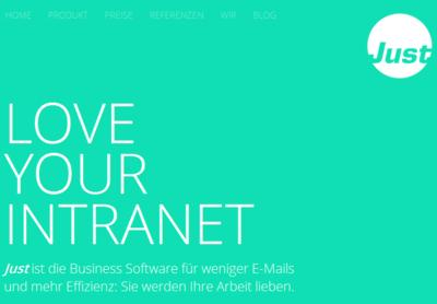 "Just Software bringt ""LOVE YOUR INTRANET"" auf die CeBIT!"