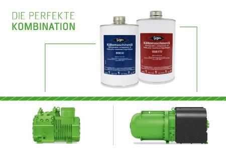 Bild 2: BSE32 ist geeignet bei Verwendung von HFKW- und HFO-Kältemitteln in BITZER Hubkolbenverdichtern, während BSE170 in BITZER Schraubenverdichtern eingesetzt wird