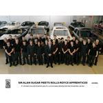 Sir Alan Sugar meets Rolls-Royce apprentices