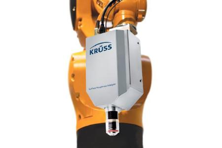 Surface Roughness Analyzer – SRA by KRÜSS as a robot-controlled measuring head