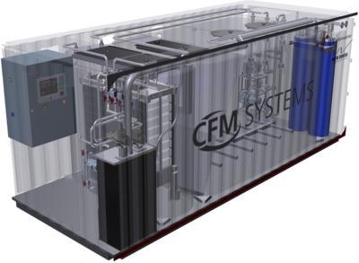 Auszug aus einer 3D-Produktpräsentation (ItN Nanovation MBBR Container)